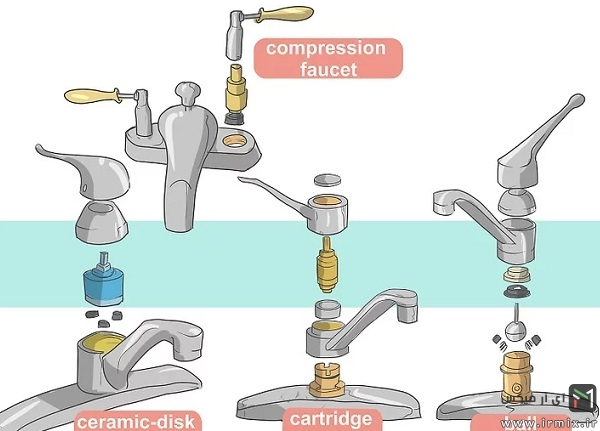 شناسایی انواع مختلف تعمیر شیر اهرمی، قدیمی، مخلوط و..