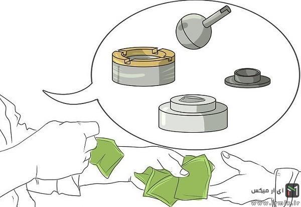 نحوه تعمیر شیر، شیر دوش و نصب شیر اهرمی