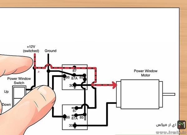 آموزش روش تعویض سیم شیشه بالابر پراید