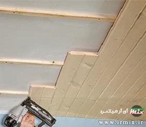 نصب سقف کاذب چوبی