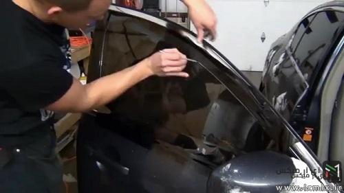 آموزش نحوه دودی کردن شیشه ماشین