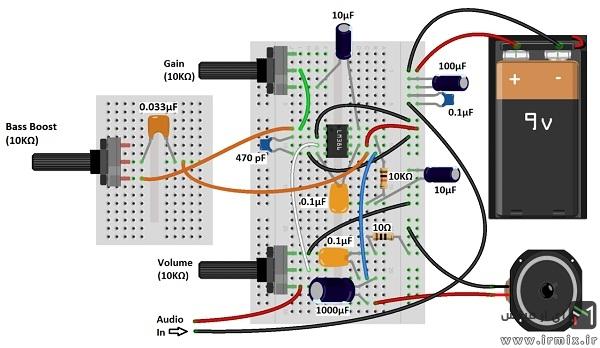 ساخت آمپلی فایر ماشین