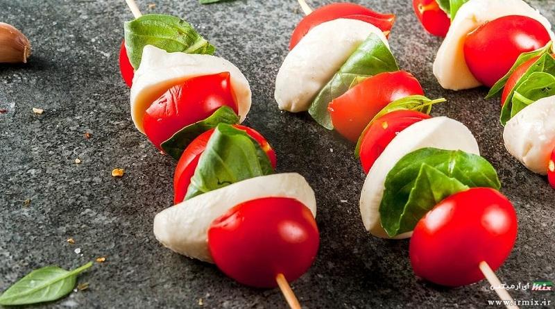 آموزش تصویری طرز تهیه ۲۰ عدد غذا و پیش غذا با سیخ چوبی