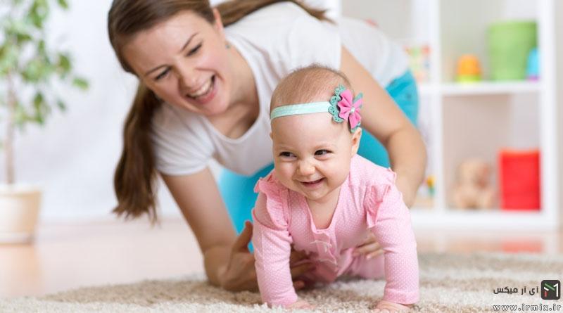 تشخیص پیشرفت های جسمانی نوزاد : زمان نشستن نوزاد ، سینه خیر رفتن و علت دیر نشستن نوزادان
