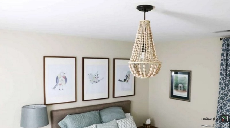 Chandelier From Wood Beads