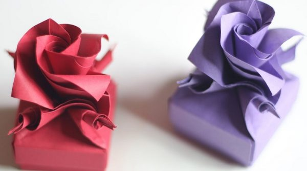 DIY Origami Rose Box