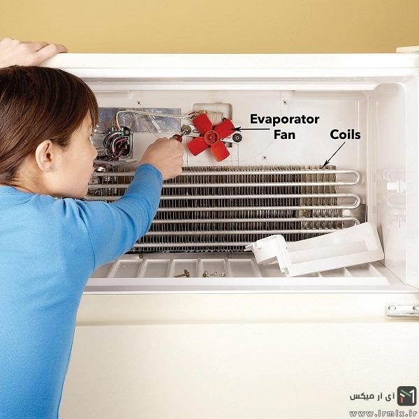 درآوردن فن تبخیر کننده
