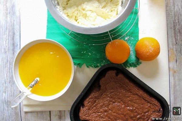 طرز تهیه چیز کیک با پایه کیک اسفنجی