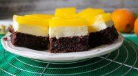طرز تهیه چیز کیک با پایه کیک شکلاتی