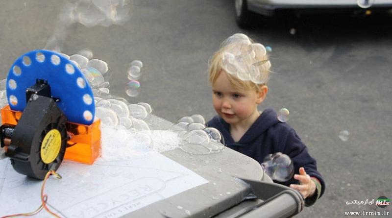 آموزش تصویری ساخت حباب ساز برقی در خانه