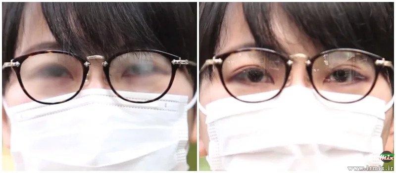 آموزش جلوگیری از بخار کردن عینک طبی موقع ماسک زدن