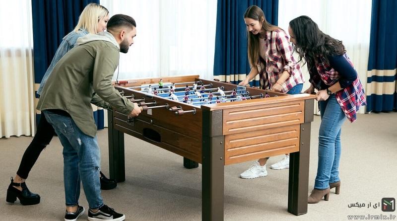 ساخت میز فوتبال دستی حرفه ای چوبی