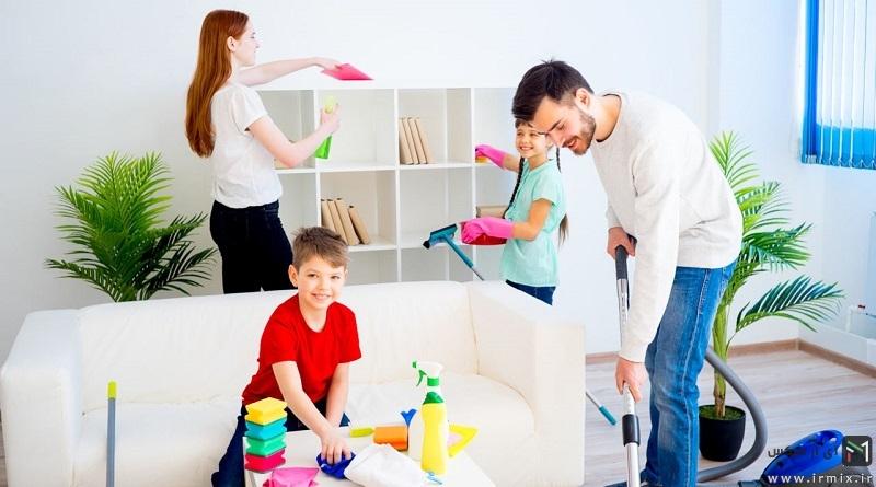 آموزش کامل سریع ترین روش خانه تکانی عید به راحترین شکل