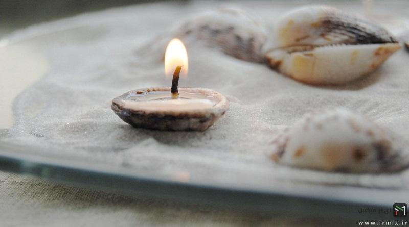 آموزش تصویری تزیین شمع با گل خشک ، مروارید ، نگین و وسایل ساده