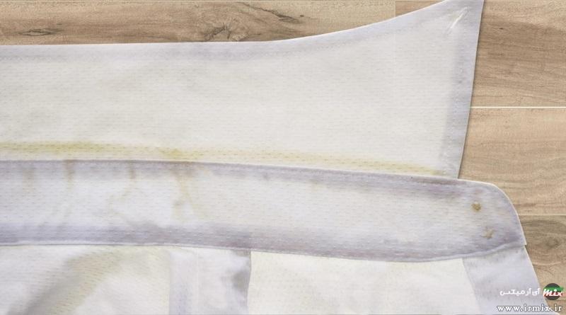 آموزش راه های جلوگیری و از بین بردن لکه عرق روی لباس های رنگ و سفید