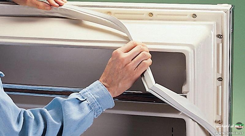 آموزش تصویری تعویض لاستیک درب یخچال در خانه