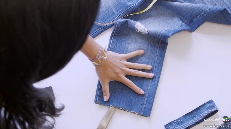 آموزش زاپ دار کردن شوار جین زنانه و مردانه با کاتر در خانه