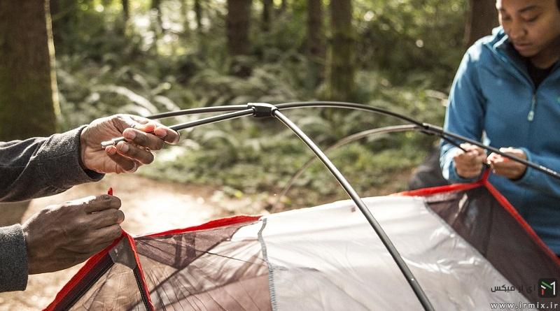 راهنمای تصویری نصب و بستن انواع چادر مسافرتی میله ای