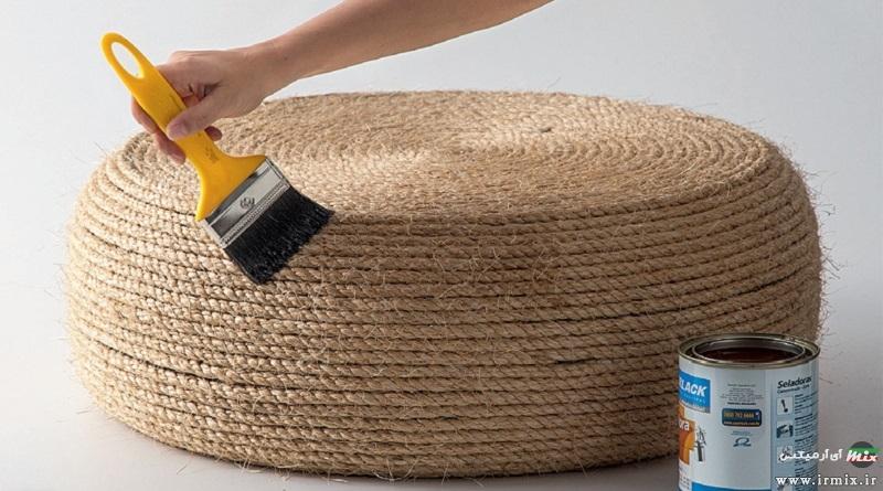 آموزش تصویری آموزش ساخت صندلی و حوض با تایر ماشین