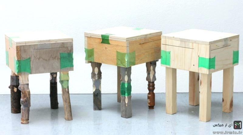 آموزش تصویری ساخت صندلی با وسایل دور ریختنی و ساده