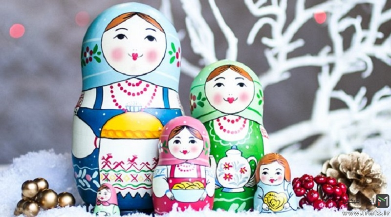 آموزش تصویری مراحل ساخت عروسک روسی سر جدا به زبان فارسی