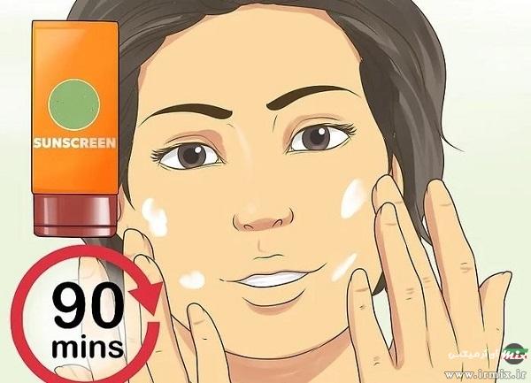 درمان آفتاب سوختگی صورت