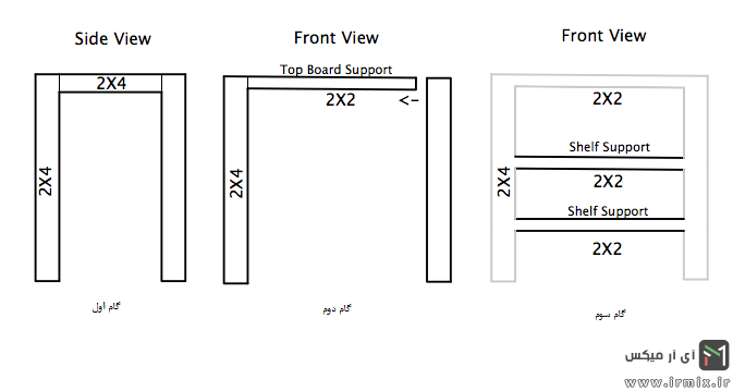 نقشه ساخت میز تلویزیون