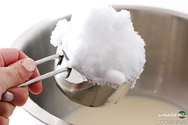 تهیه بستنی با برف