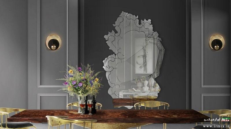 آموزش آینه کاری مدرن و تزیین دیوار پذیرایی خانه با آینه