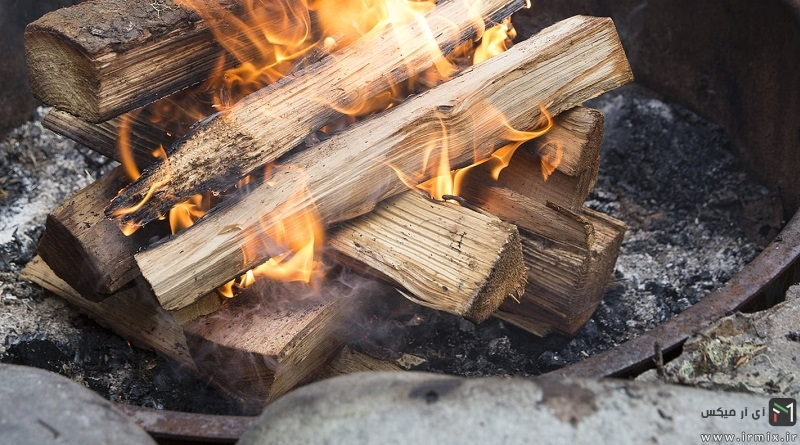 طريقه درست كردن آتش با ذغال، چوب و .. در منزل + ویدیو