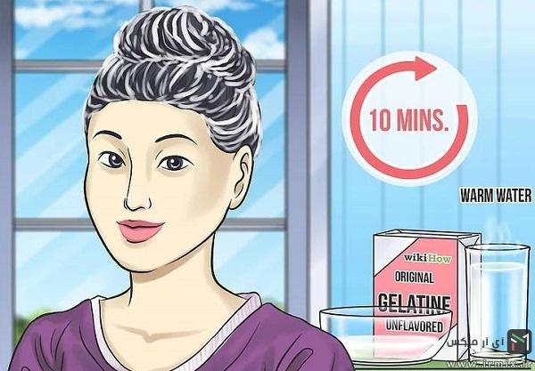 صاف کردن مو با کمک ماسک ژلاتین