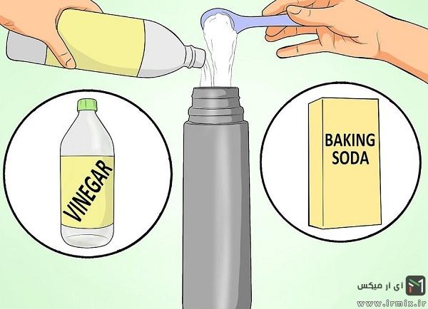 طریقه شستن فلاسک