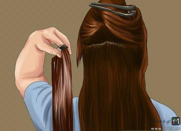 گذاشتن موی اکستنشن لابلای موها