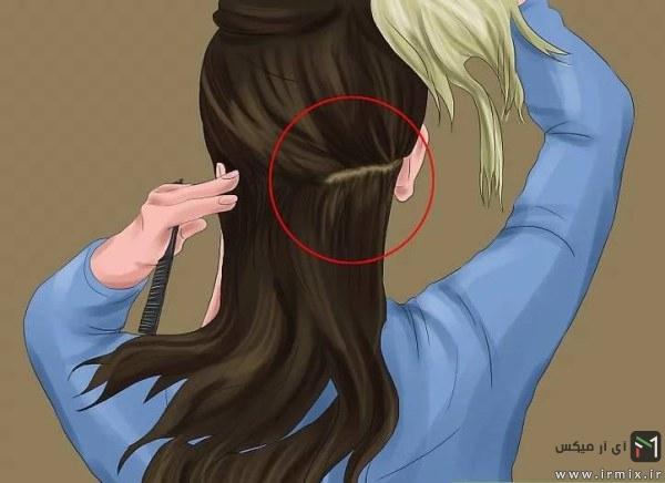 جمع کردن موها در بالای سر