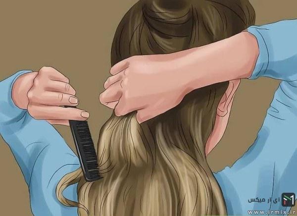 شانه کردن موها