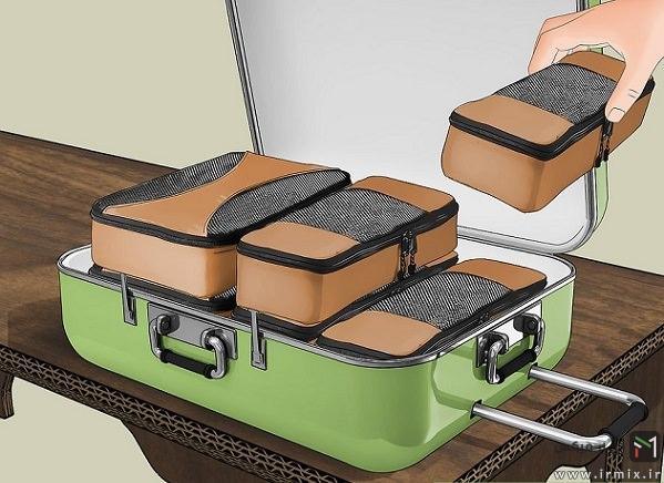 آموزش بستن چمدان مسافرتی