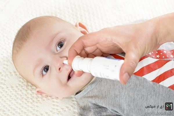 استفاده از قطره بینی در سرماخوردگی نوزادان