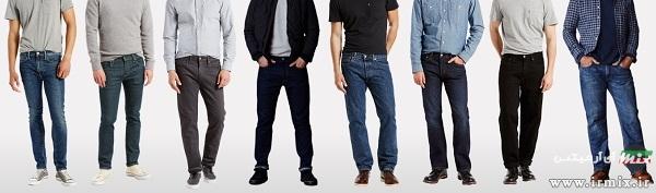 سایز کمر شلوار جین مردانه