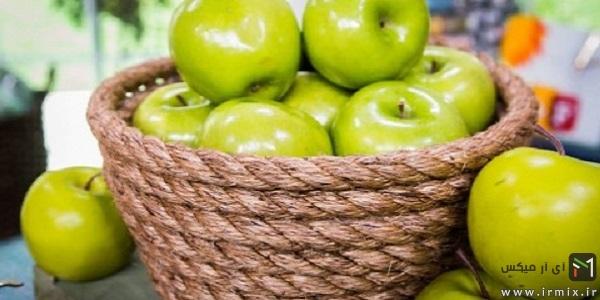 1- ساخت ظرف میوه با طناب یا حصیر