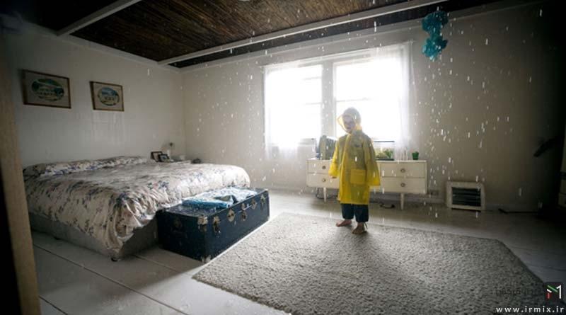 در داخل این خانه عجیب همیشه باران می بارد ! + ویدیو / تصاویر