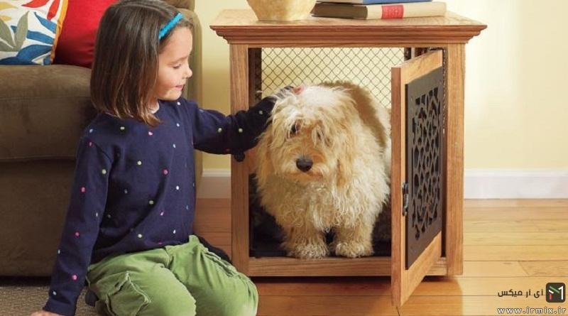 آموزش ساخت جای خواب سگ، گربه با مقوا، چوب در خانه
