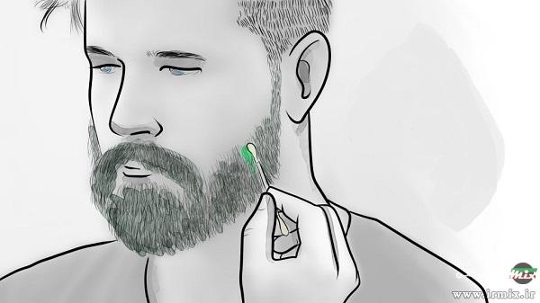 روش رنگ کردن ریش