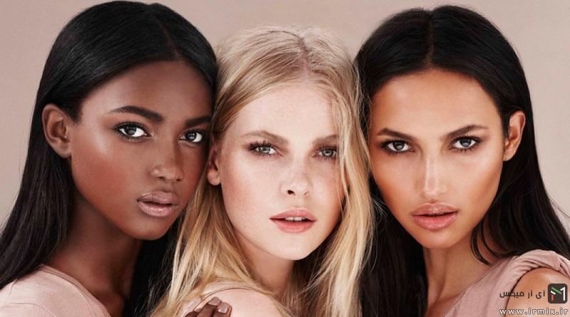 چه نوع آرایشی به صورت گرد و سبزه میاد؟ روش های آرایش پوست گندمی، صورت کشیده و..