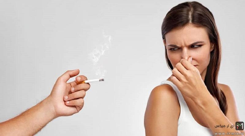 از بین بردن بوی سیگار از لباس