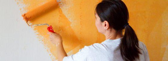 آموزش رنگ زدن دیوار گچی، سیمانی و سفالی با غلتک، قلمو و..