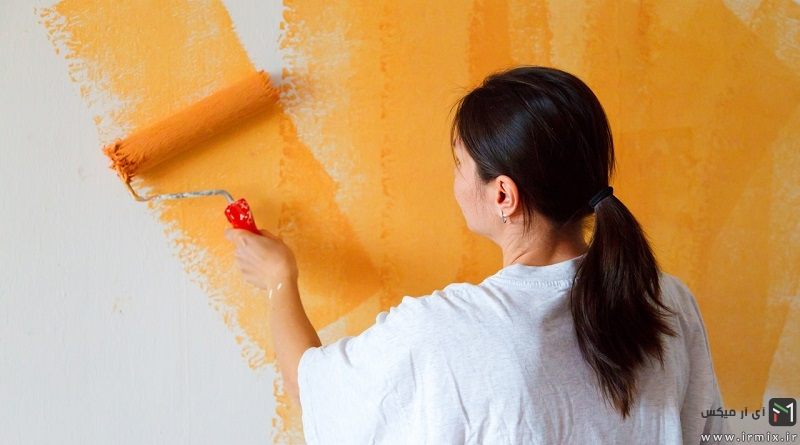 آموزش رنگ زدن دیوار گچی، سیمانی و سفالی با غلتک، قلمو و نحوه بتونه کاری دیوار