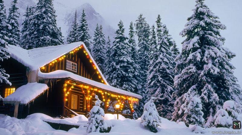 روش سریع برف روبی و از بین بردن برف نشسته بر روی سقف خانه
