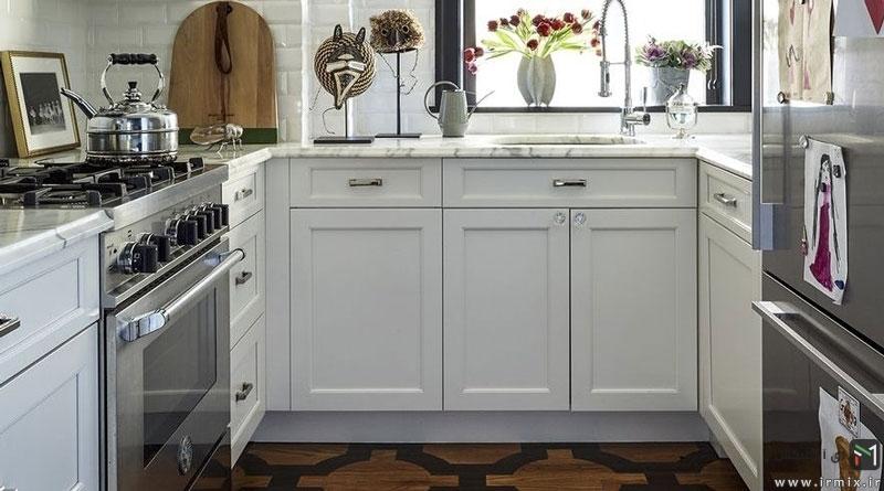 ۲۰ ایده خارق العاده  طراحی دکور آشپزخانه کوچک و بزرگ ، چیدمان وسایل اپن، کابینت و..