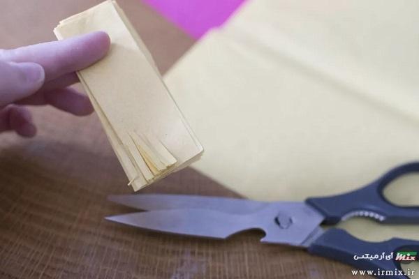 تزیین دستمال سفره به شکل قلب