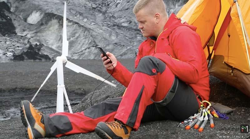 اولین توربین بادی جیبی در جهان : شارژ گوشی تا ماشین !
